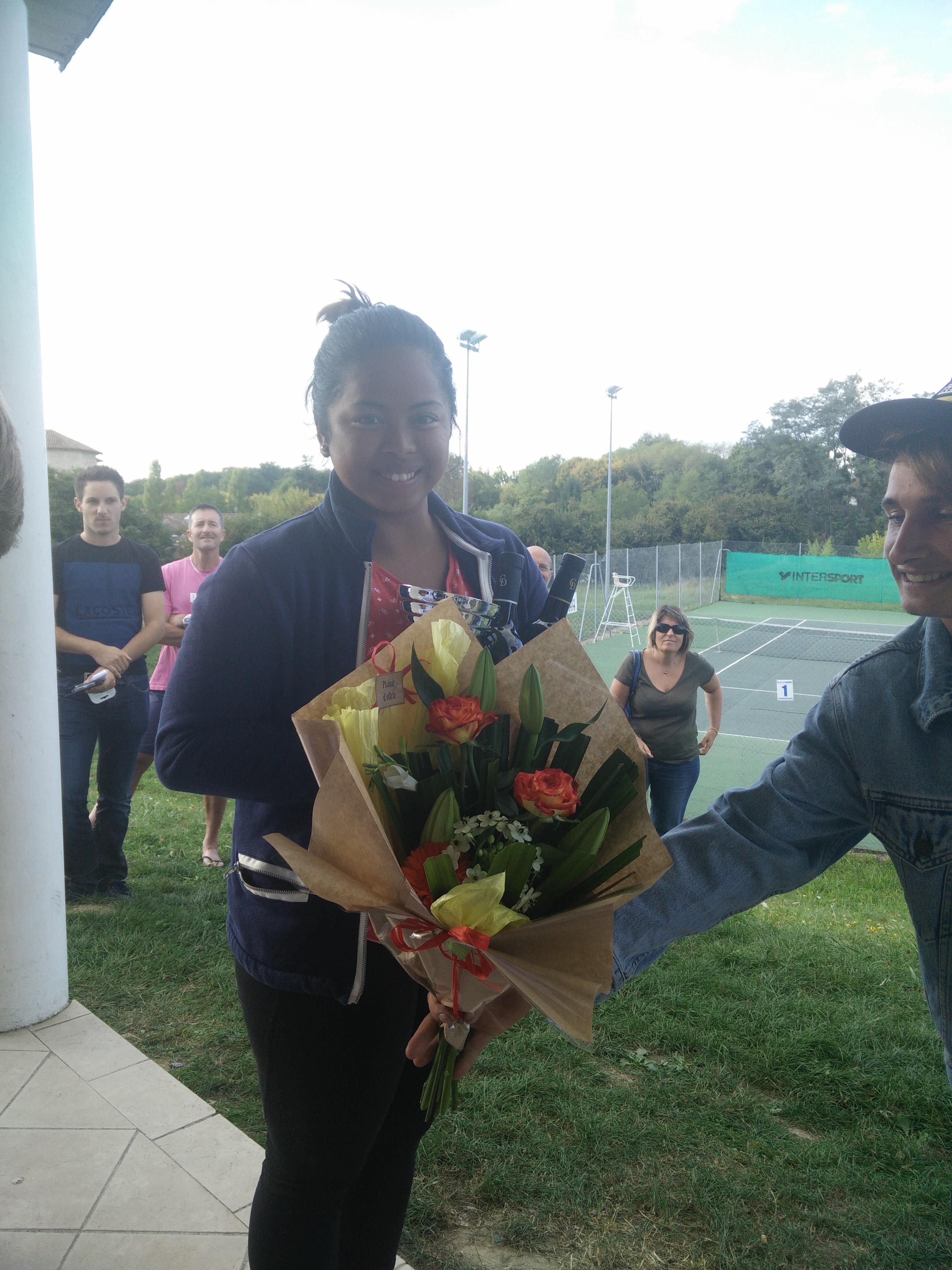 Lova Michaud, vainqueur du tableau senior dames